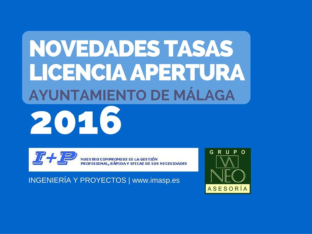licencia de apertura novedades tasas 2016 ayto m laga